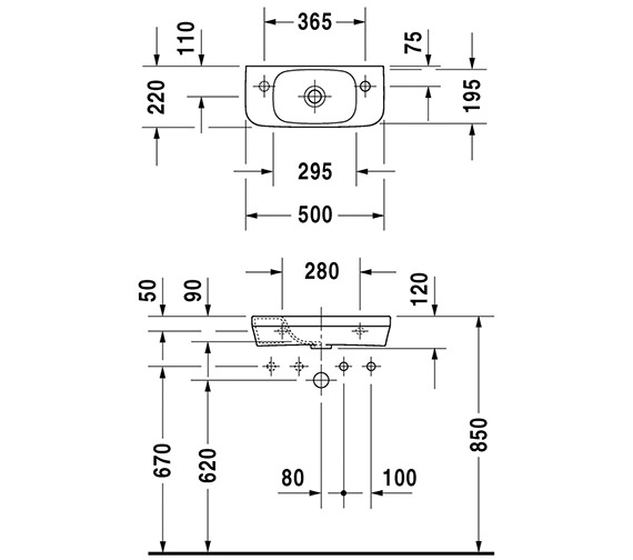 Technical drawing QS-V24889 / 0713500009