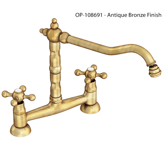 Additional image of Abode Melford Bridge Chrome Kitchen Mixer Tap - AT1045