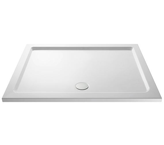 Premier Pearlstone Rectangular Shower Tray With Centre Waste