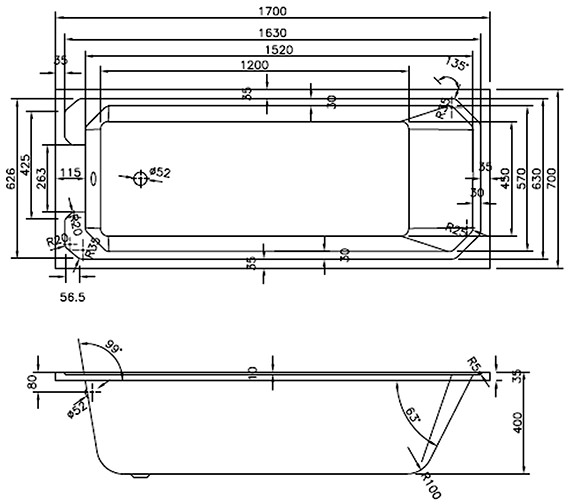 Technical drawing QS-V82720 / NLB109