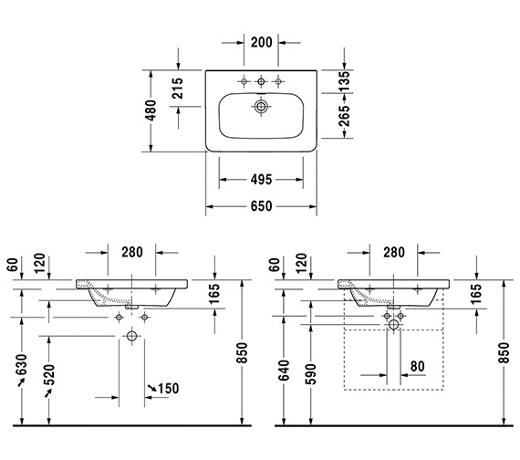 Technical drawing QS-V24897 / 2320650000
