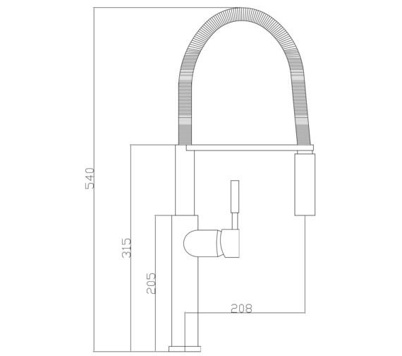 Technical drawing QS-V87505 / KIT269