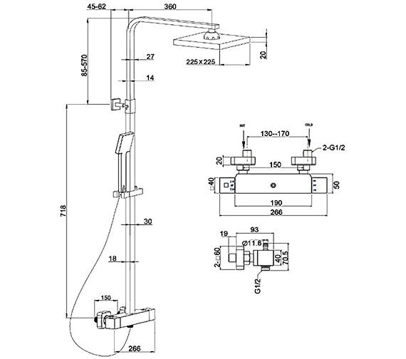 Technical drawing QS-V77722 / SH/611/C