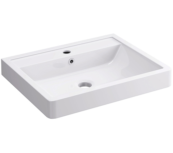 Pura Flite 600 x 480mm 1 Tap Hole Basin