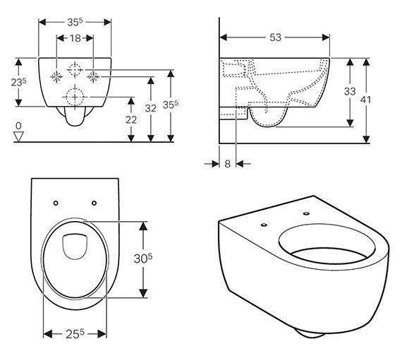 Technical drawing QS-V58002 / 500.400.01.1