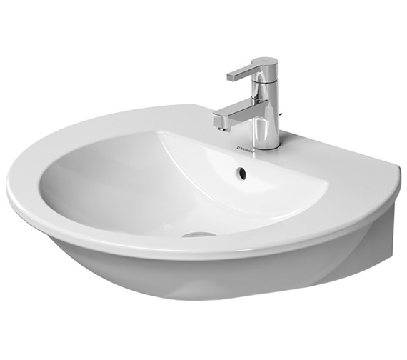 Additional image of Duravit Darling New 550mm Wide 1 Taphole Washbasin With Overflow