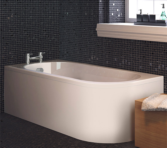 Premier Crescent 1700 x 725mm Back-To-Wall Left Handed Bath With Panel