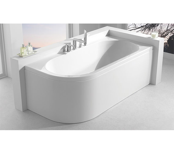 Additional image of Carron Status 5mm Acrylic Double Ended Bath 1600 x 725mm - Right Hand