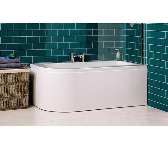Carron Status 5mm Acrylic Shower Bath 1550 x 850mm - Right Hand