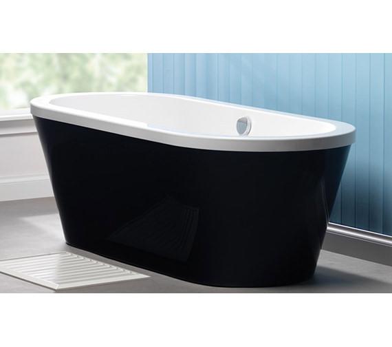 Carron Halcyon Oval Freestanding Carronite Bath White - 1750 x 800mm - Heavy Duty