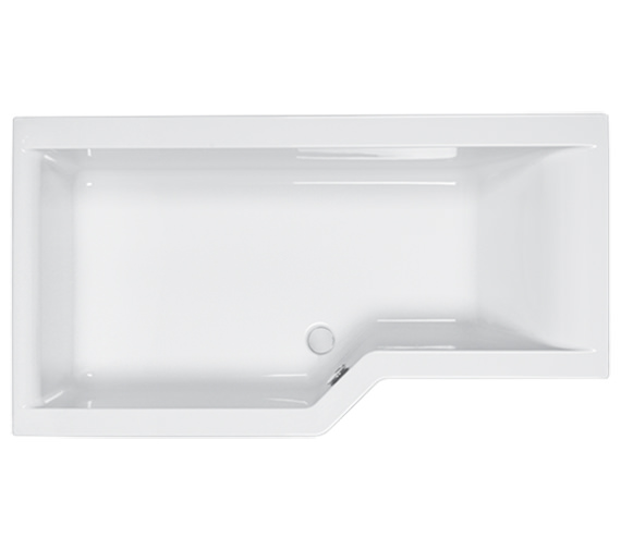 Carron Urban Edge 5mm Acrylic Shower Bath 1675 x 700-850mm - Left Hand