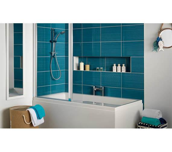 Carron Urban Swing Carronite Shower Bath 1575 x 850mm - Left Handed