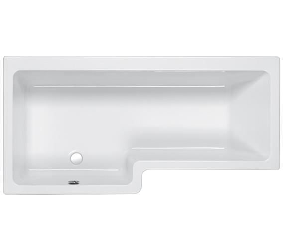 Carron Quantum 5mm Acrylic Shower Bath 1700 x 700-850mm - Left Hand