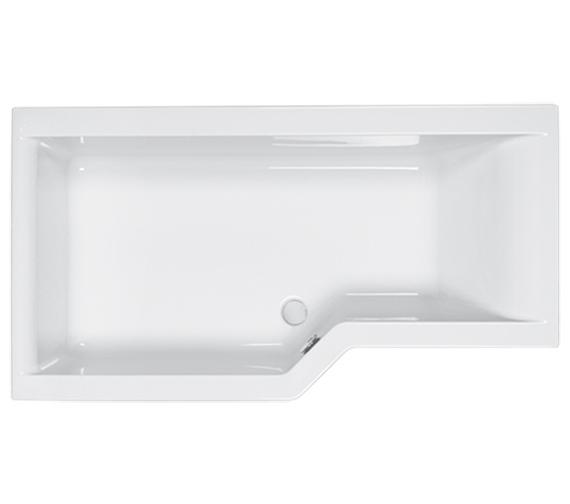 Carron Urban Edge Acrylic Shower Bath 5mm - 1575 x 700-850mm