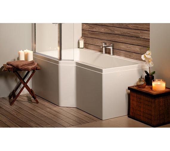 Carron Urban Edge 5mm Acrylic Shower Bath 1575 x 700-850mm - Left Hand