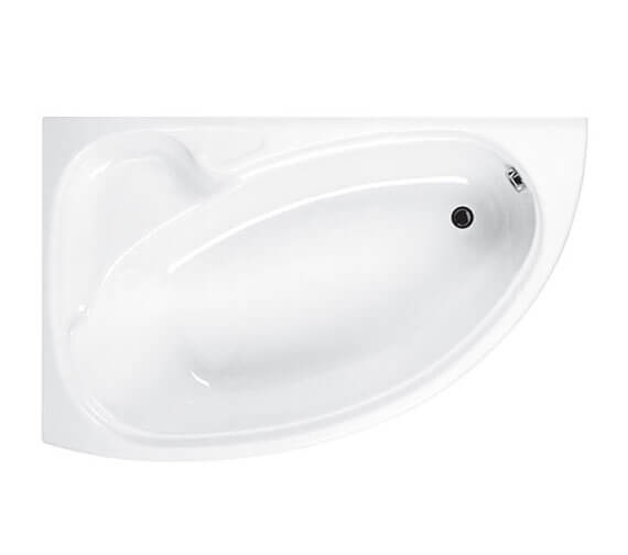 Carron Dove 5mm Acrylic Corner Bath 1550 x 950mm - Right Hand