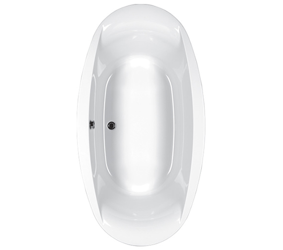 Carron Celsius Oval Carronite Inset Bath 1900 x 1000mm