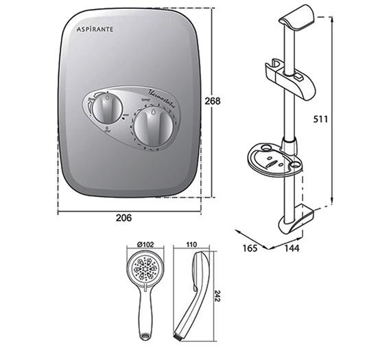 Technical drawing QS-V40047 / ASP2000THM