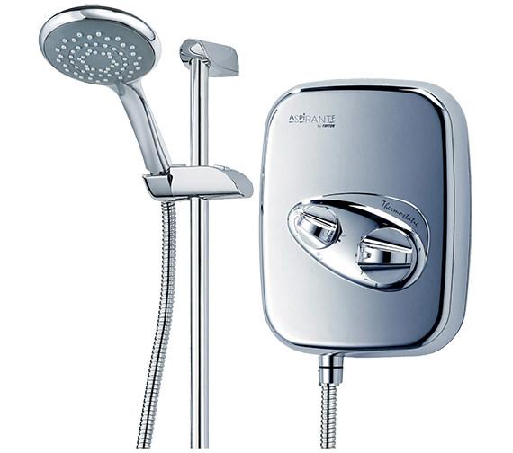 Additional image of Triton Aspirante Chrome Thermostatic Power Shower