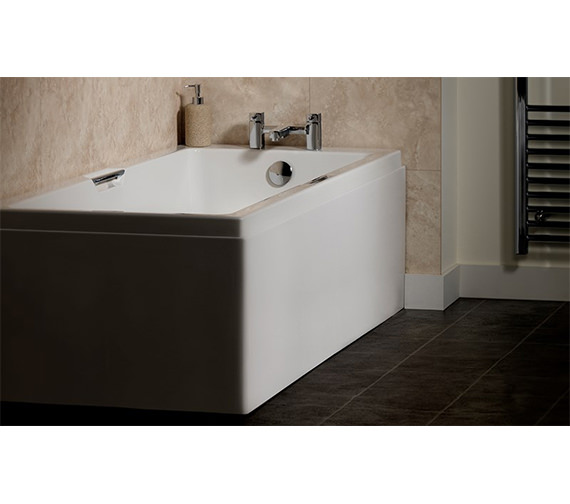 Carron Quantum Integra Eco 5mm Acrylic Bath 1600 x 700mm - Grips Included