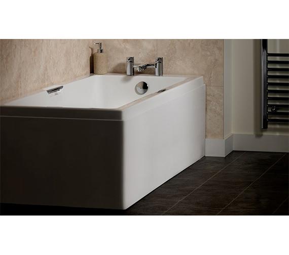 Carron Quantum Integra Eco 1700 x 700mm Acrylic Bath 5mm - Twin Grip Included