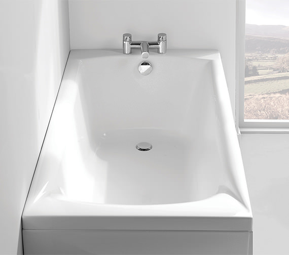 Additional image of Carron Delta 5mm Acrylic Single Ended Bath 1675 x 700mm