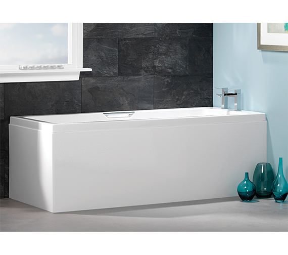 Carron Quantum Integra Single Ended 5mm Acrylic Bath With Grips 1650 x 700mm