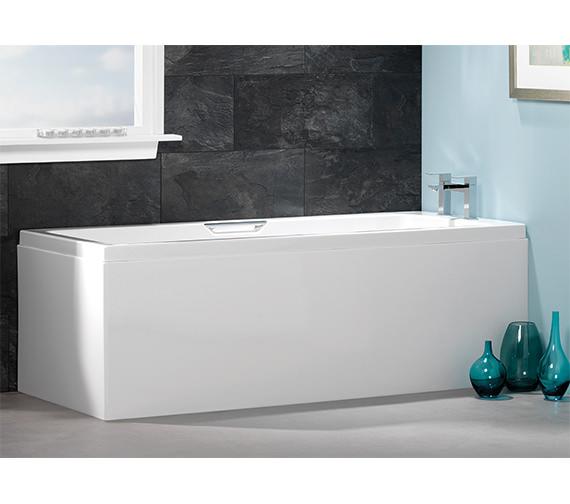 Carron Quantum Integra Single Ended 5mm Acrylic Bath 1600 x 700mm - Grips Included