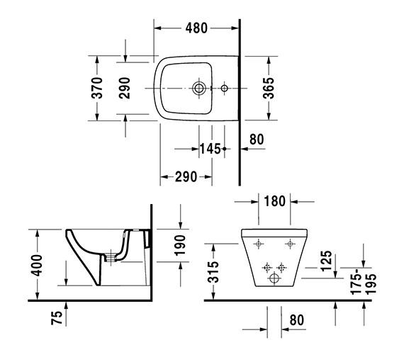 Technical drawing QS-V24908 / 2285150000
