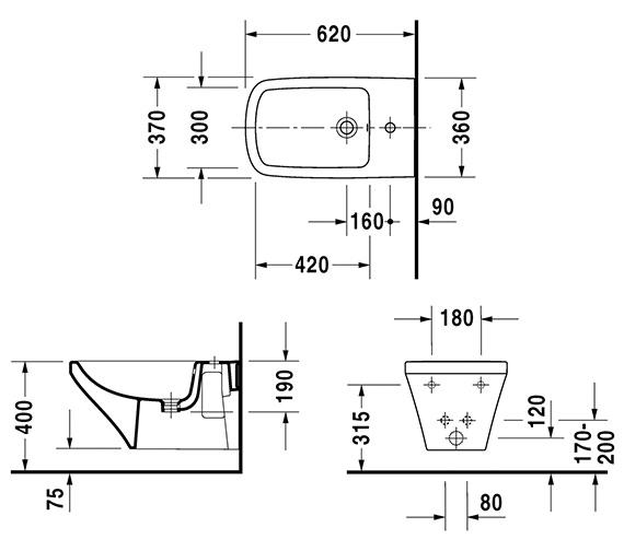 Technical drawing QS-V24907 / 2286150000