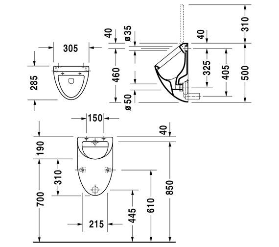 Technical drawing QS-V45518 / 0823350000