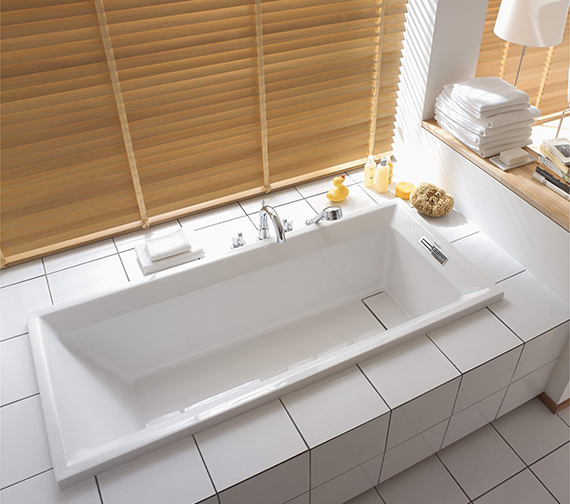 Duravit 2nd Floor Built-In 1700 x 750mm Bath With Support Feet