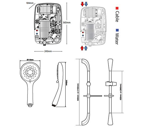 Technical drawing QS-V40036 / SP8P08SI