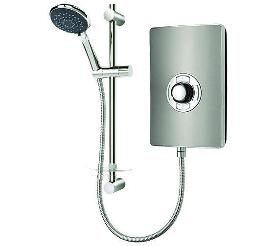 Triton Aspirante Gun Metal Electric Shower 8.5 kw