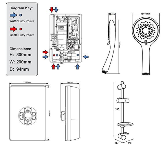 Technical drawing QS-V39975 / ASP08GUNMTL