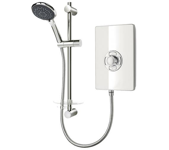 Triton Aspirante White Gloss Electric Shower 8.5 KW - ASP08GSWHT