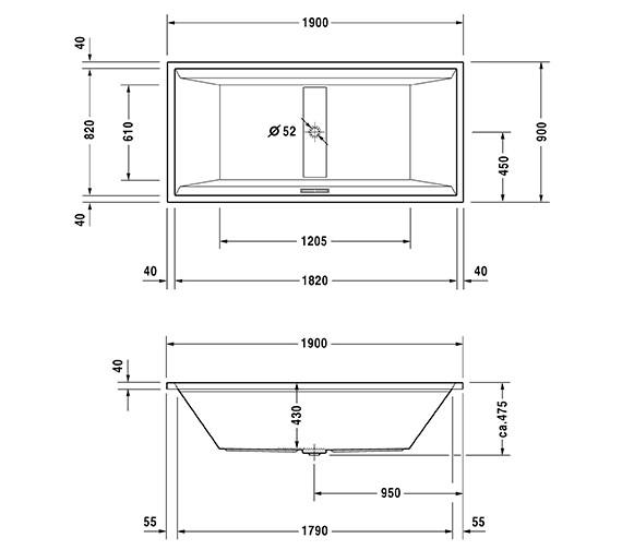 Technical drawing QS-V63195 / 760160000CL1000