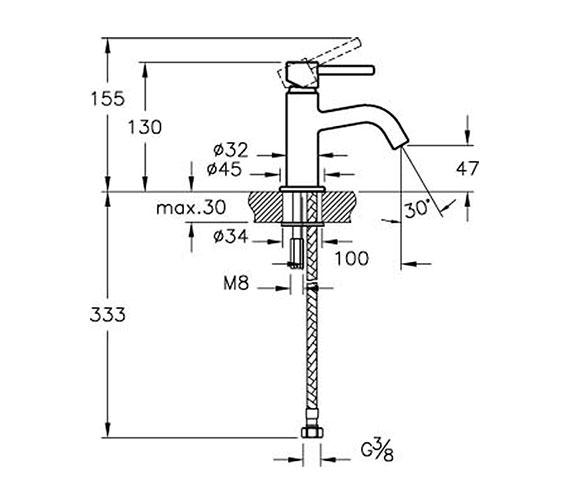 Technical drawing QS-V81899 / A42362VUK