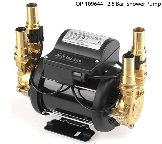 Alternate image of Aqualisa Mach 1.2 Bar Twin Ended Shower Pump