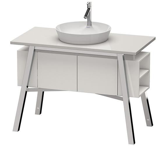 Duravit Cape Cod Floor Standing Furniture Unit With Door And Shelf