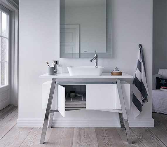 Duravit Cape Cod Floor Standing Furniture Unit With Door And Shelf