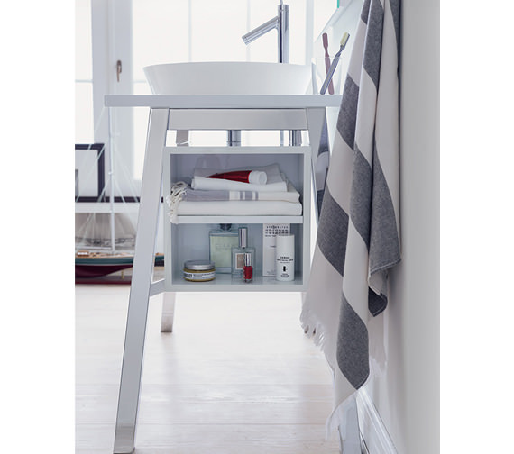 Additional image of Duravit Cape Cod Floor Standing Furniture Unit With Door And Shelf