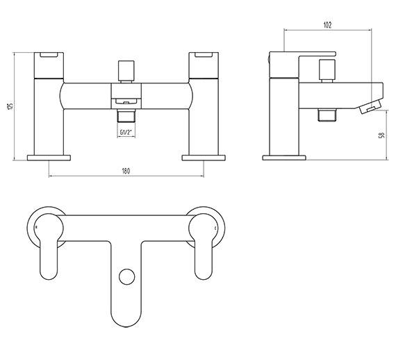 Technical drawing QS-V4704 / FCS007