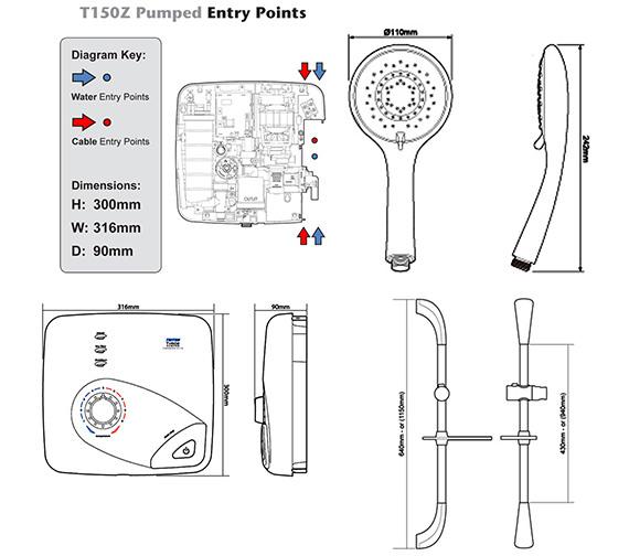Technical drawing QS-V40105 / SPSGPE09WC