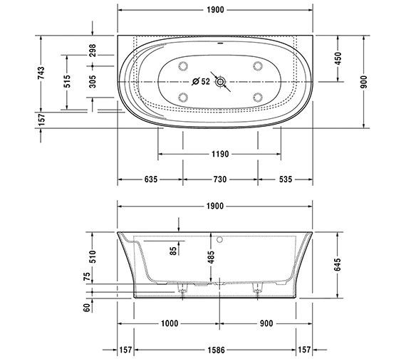 Technical drawing QS-V124 / 760364000AS1000