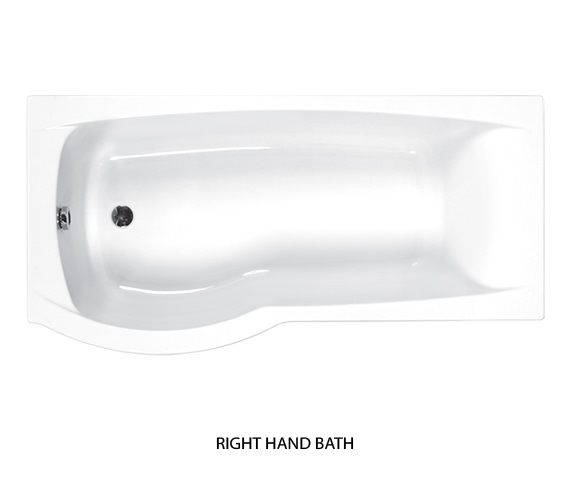 Additional image of Carron Delta 5mm Acrylic Shower Bath 1700 x 700-800mm - Left Hand