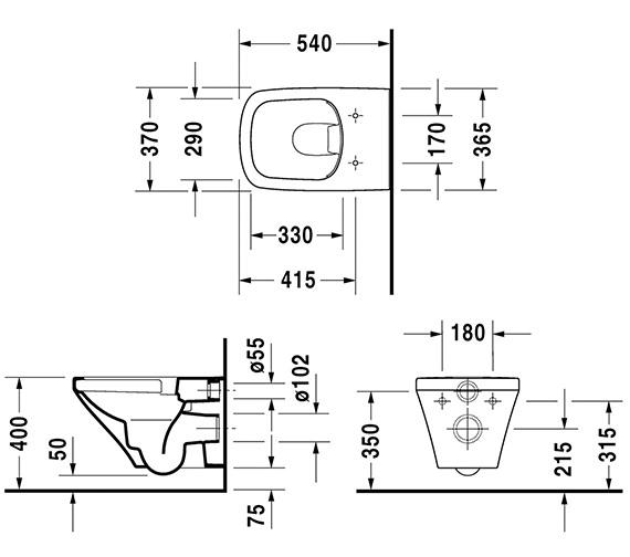 Technical drawing QS-V24924 / 2538090000
