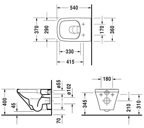 Technical drawing QS-V14485 / 2551090000