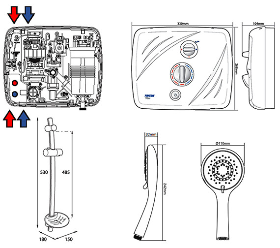 Technical drawing QS-V40107 / SP9009SI