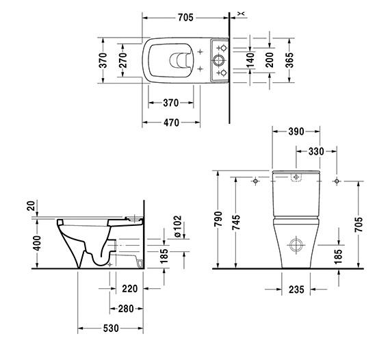 Technical drawing QS-V24928 / 2156090000